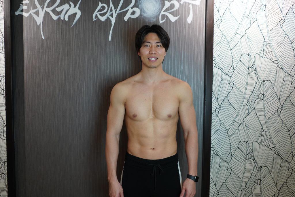 盛れた筋肉を強調された写真